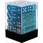 Chessex Dice: Translucent: 36D6 Teal / White