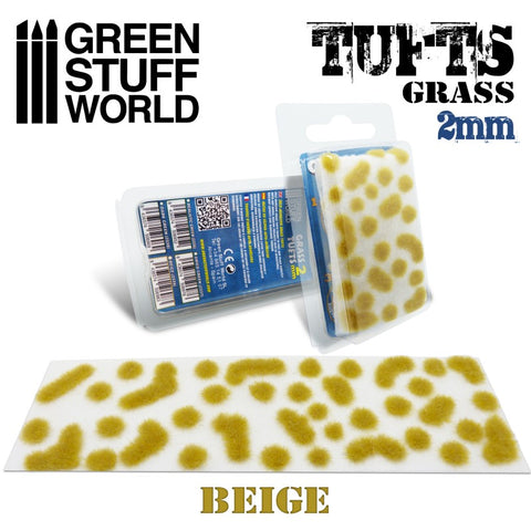 Grass TUFTS - 2mm self-adhesive - BEIGE