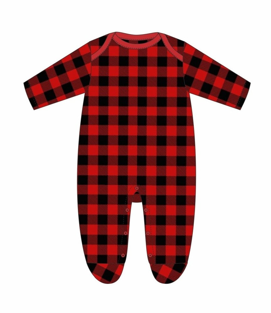 Buffalo Plaid Pajama Onesie