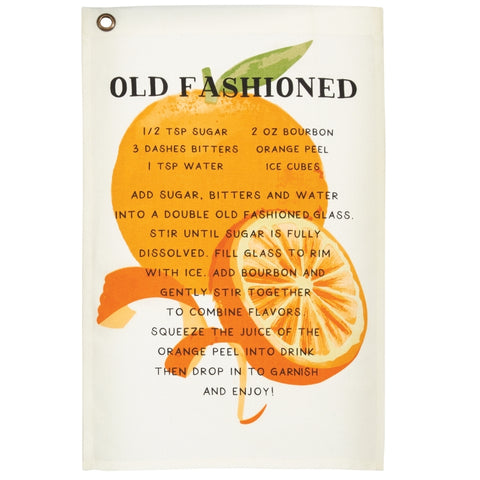 Old Fashion Drink Recipe Towel