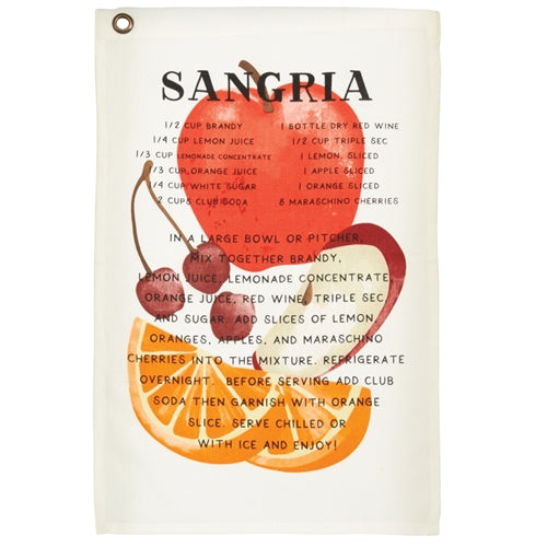 Sangria Drink Recipe Towel