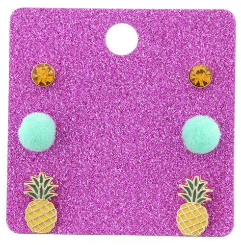 Kids Earring Set Pineapple