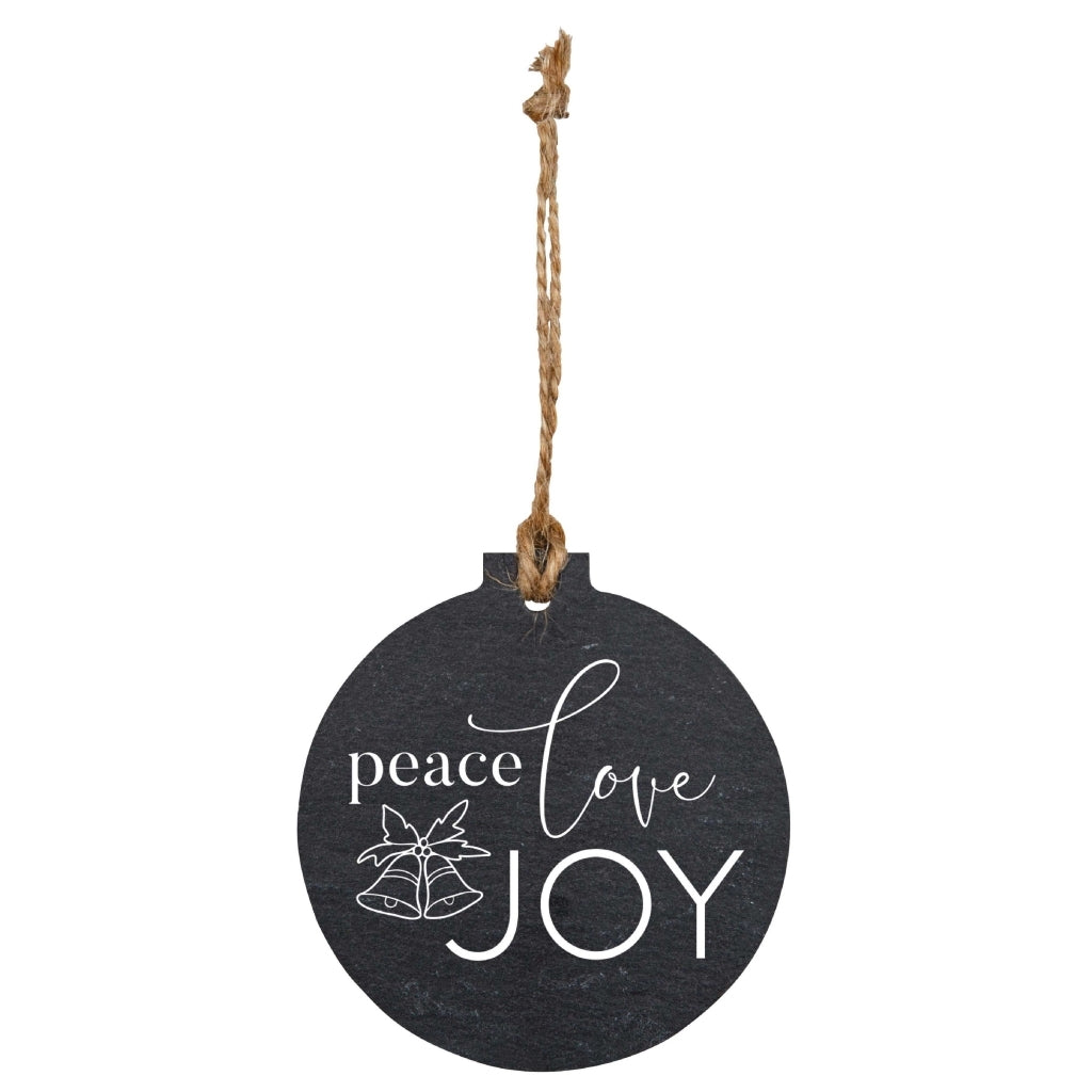Peace Love Joy Slate Ornament