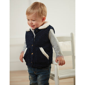 Navy Fleece Vest