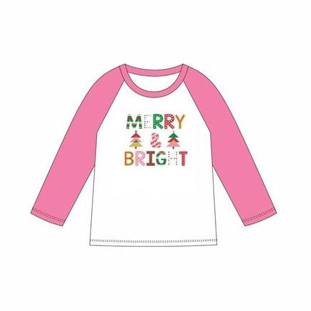 Merry & Bright 3/4 T-shirt