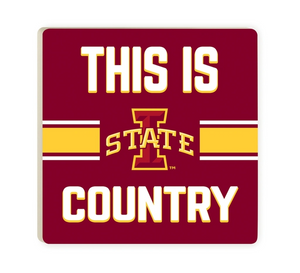This Is Iowa State Cyclones Country Ceramic Coaster