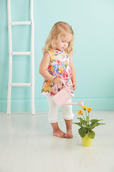 Tiered Floral Tunic And Capri