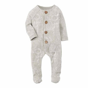 Safari Print Footed Baby Bodysuit