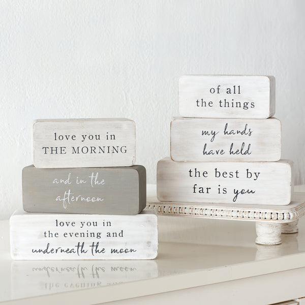 You Are More Stacking Decorative Block Set