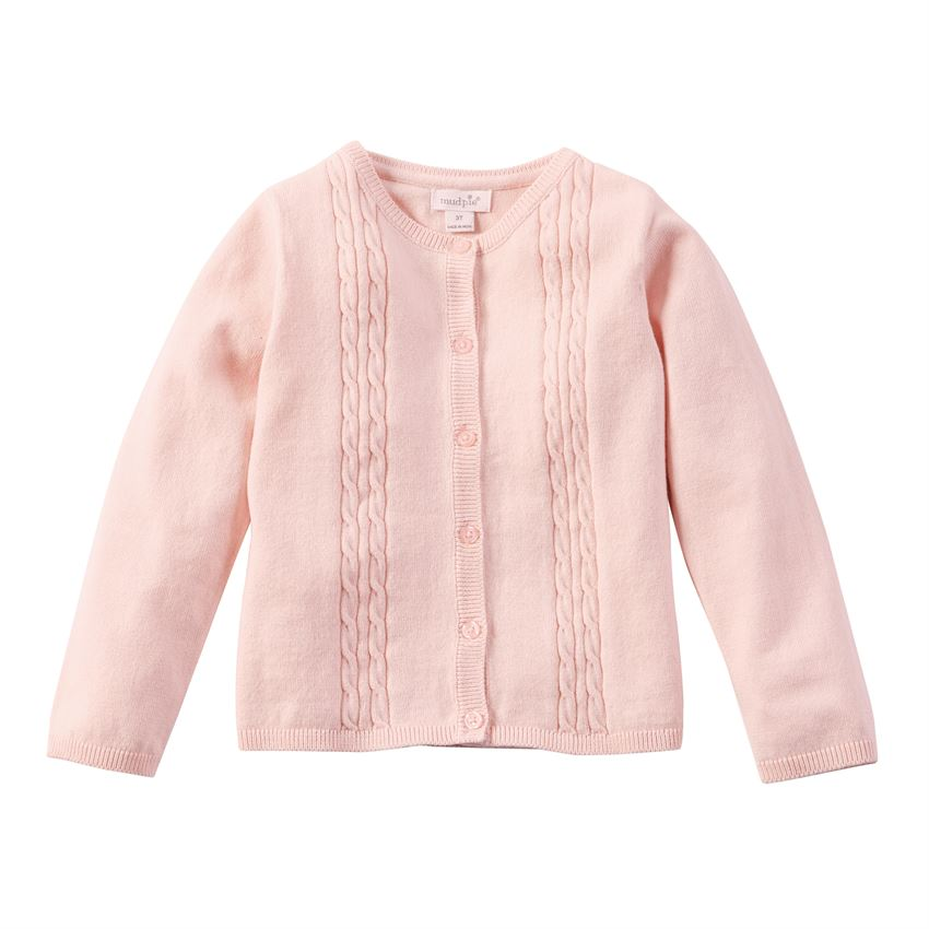 Pink Cardigan Cable Knit