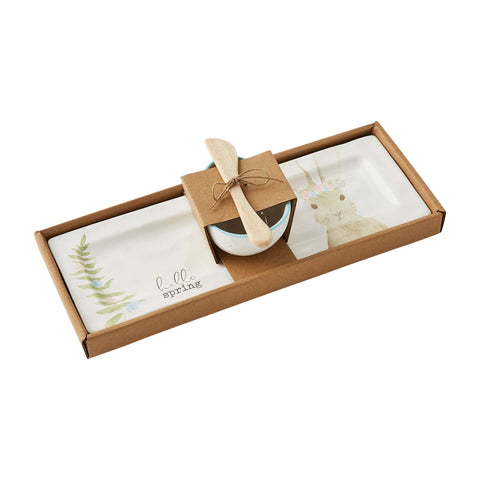 Bunny and Egg Appetizer Tray Set