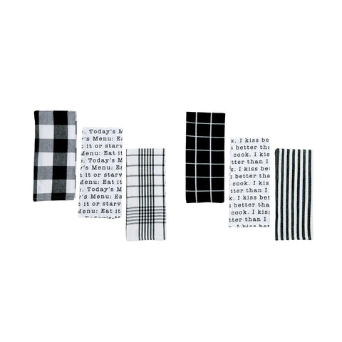 Black & White Dish Towel Set/3