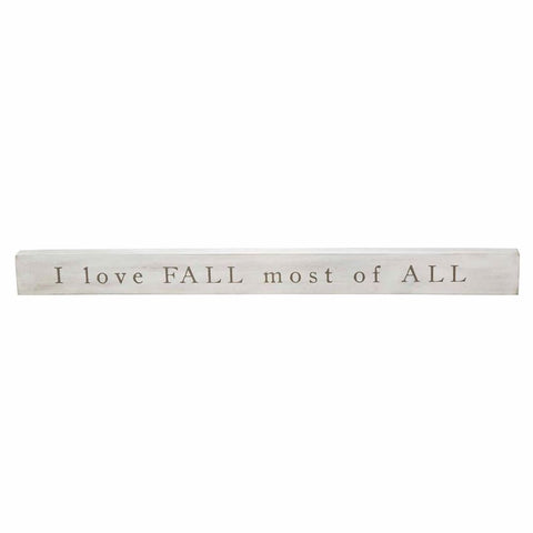 Love Fall Sentiment Stick