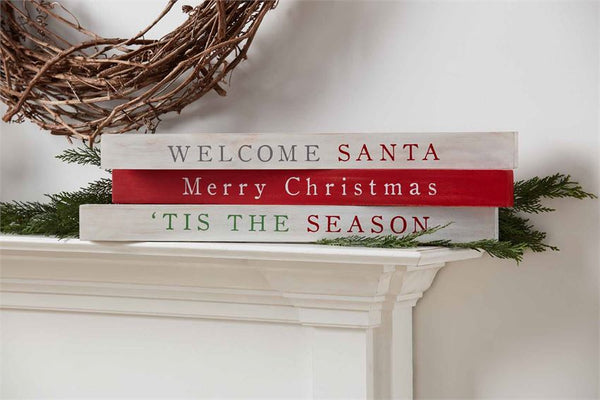 Welcome Christmas Sentiment Stick