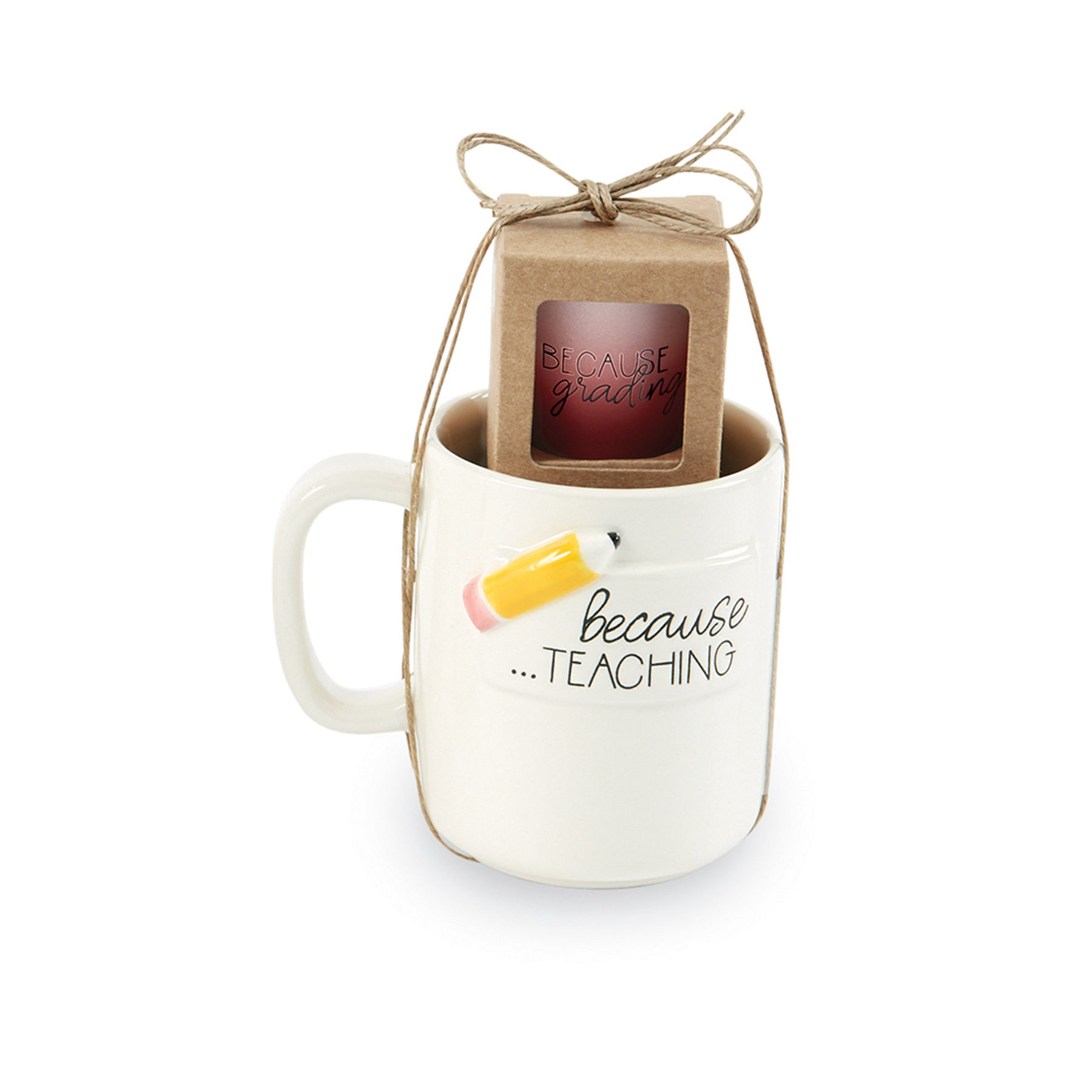 Pencil Teacher Coffee Mug & Shot Glass Set