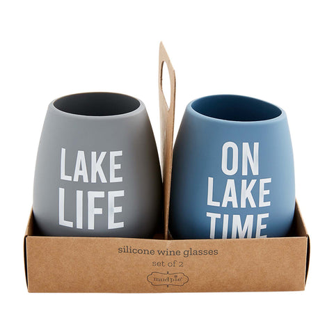 Lake Life Silicone Wine Glass Set