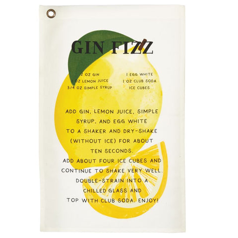 Gin Drink Recipe Towel