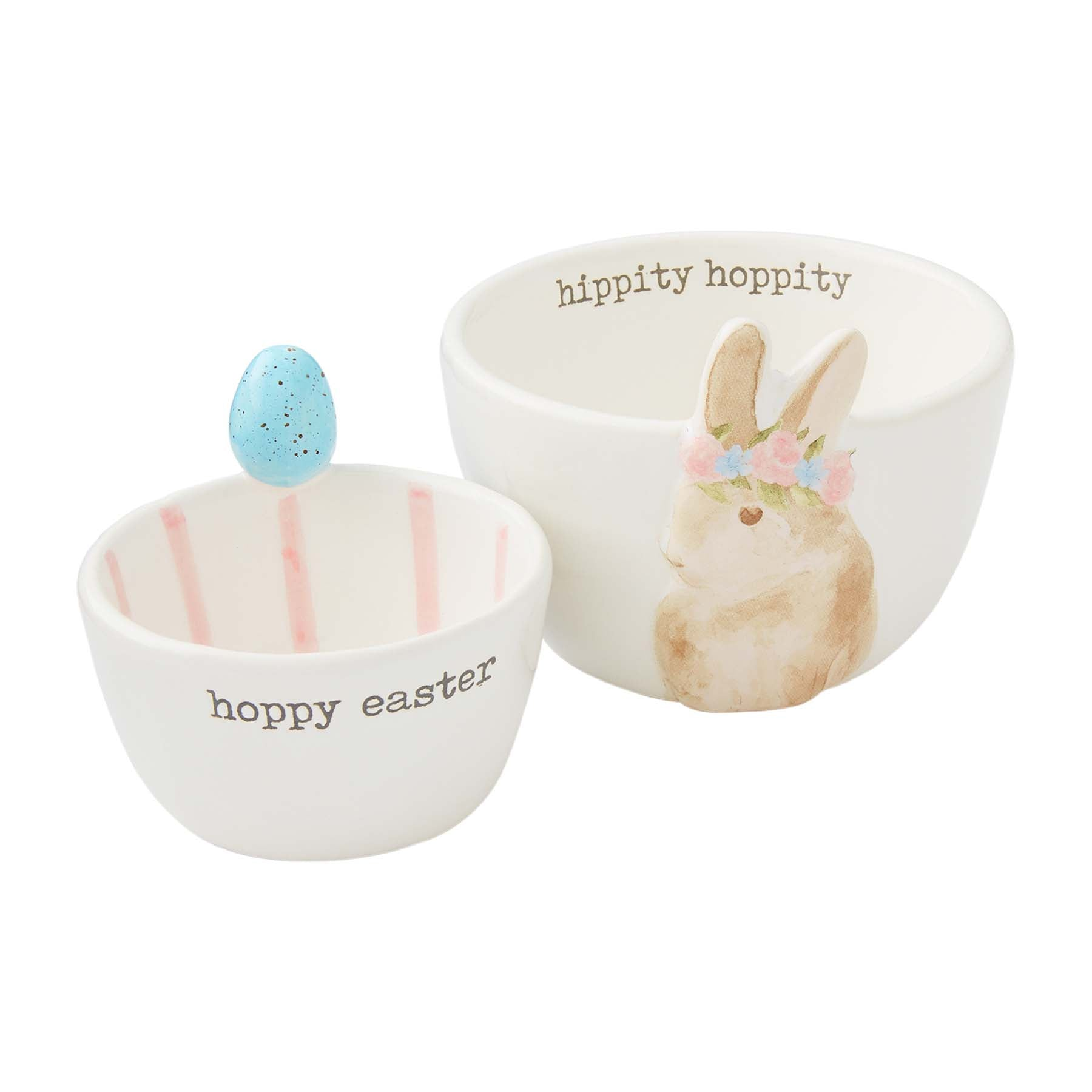 Brown Bunny Easter Candy Bowls