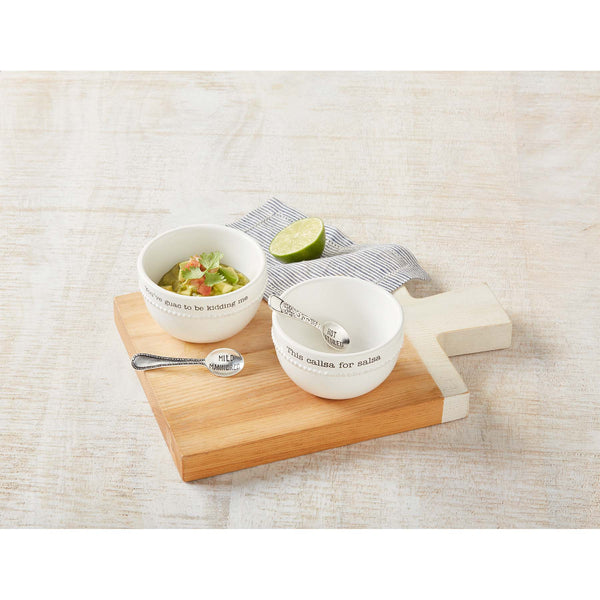 Guac and Salsa Dip Bowl Set