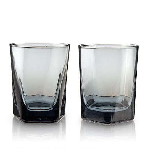 Smoke Double Old Fashioned Glasses