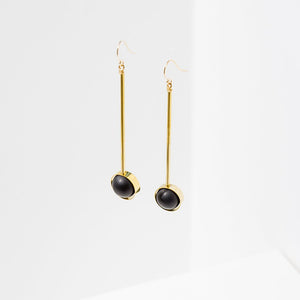 Aberrant Earrings-Onyx