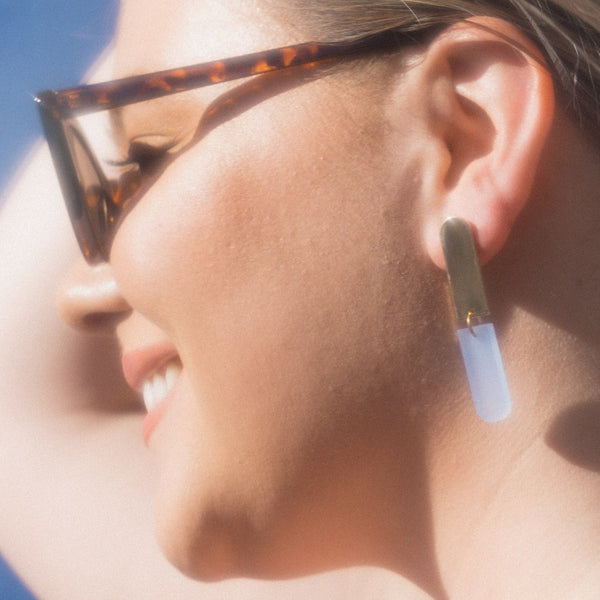 Ali Earrings Grapefruit