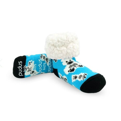 Kids Slipper Socks Polar Bear Blue