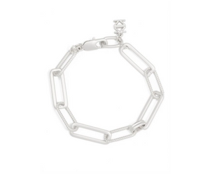 Classic & Rope Links Bracelet Silver
