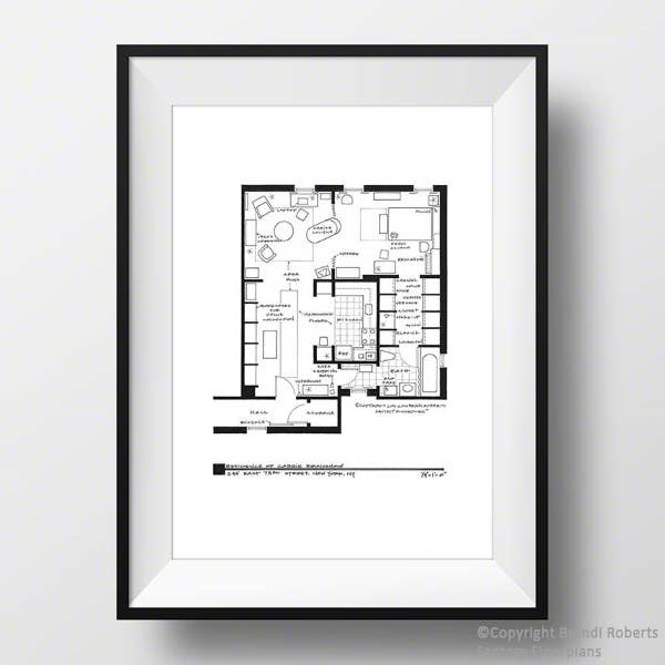 Carrie Bradshaw Apartment Print