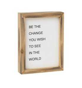 Be the Change Letterboard