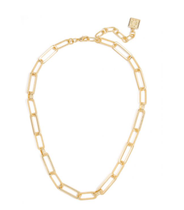 Classic & Rope Links Necklace Gold