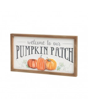 Pumpkin Patch Block Sign