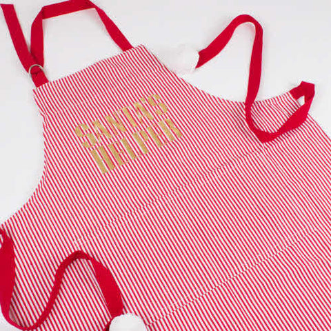 Red/White Stripe Apron Adult