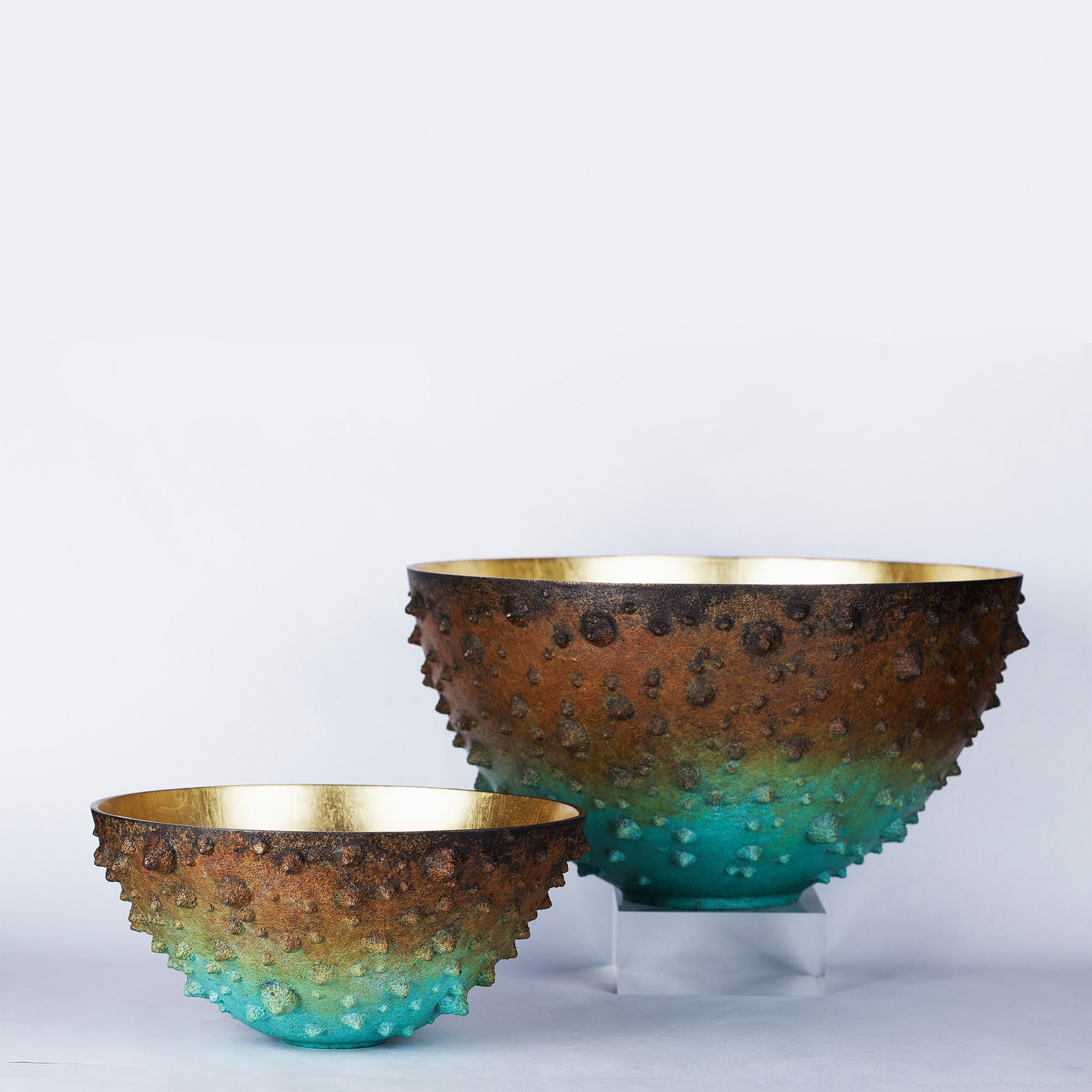 Delaire Graff Estate, Africa Nova- Bronze Age, Gilded Spikey Bowl