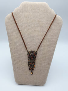Vintage-look Necklace on Leather