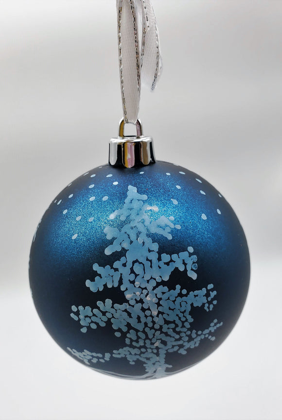 Handpainted Glass Ornament