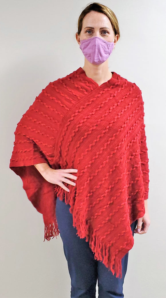 Lightweight Red Shawl