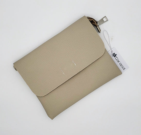 Tan Leather Clutch Purse