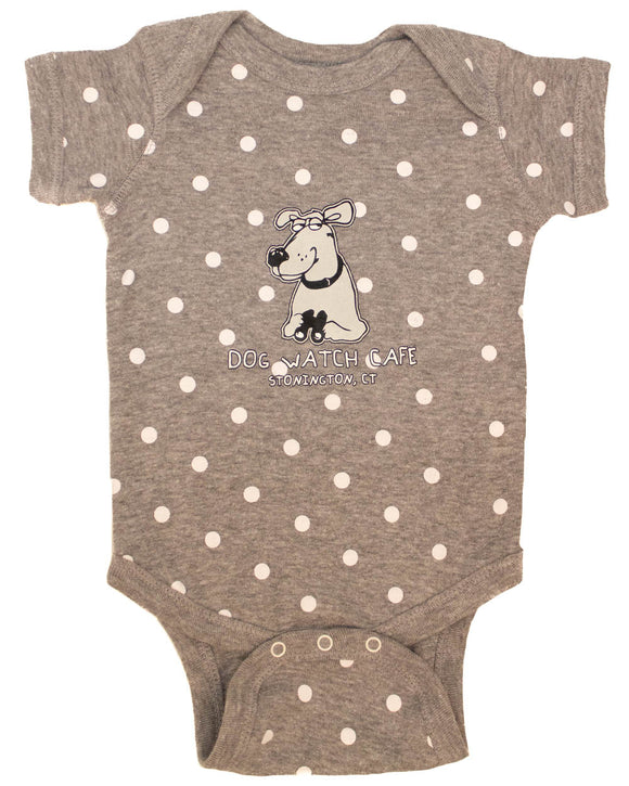 Puppy Love Polka Dot Onesie