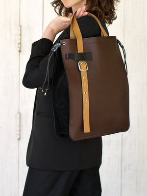 Tote Bag TOTEM / Brown & Black