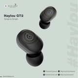 Haylou GT2 TWS Wireless Earbuds 3D Stereo Bluetooth Earphones Automatic Pairing With Portable Charging Cable - Saamaan.Pk