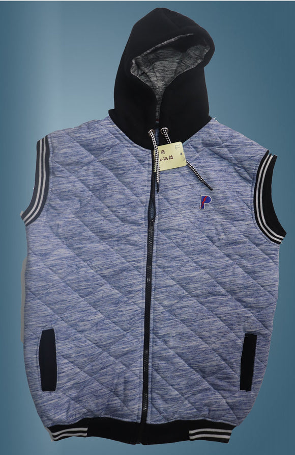 Sleeveless hoodies for kids boys/girls-lightliningblue - Saamaan.Pk
