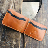 Leather Wallet 'Tan & Black'505 - Saamaan.Pk
