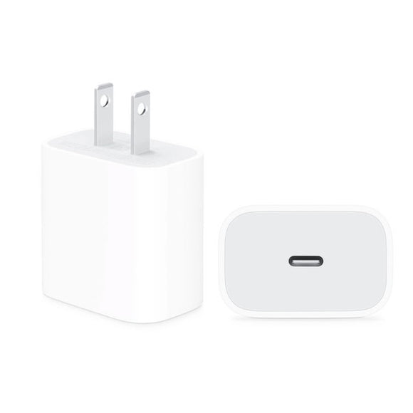 18W USB-C Power Adapter for Apple iPhone 8 / 8 Plus, Apple iPhone SE 2020, Apple iPhone X / XS / XS Max, Apple iPhone 11 / 11 Pro / 11 Pro Max, Apple iPhone 12 Mini / 12 Pro / 12 Pro Max