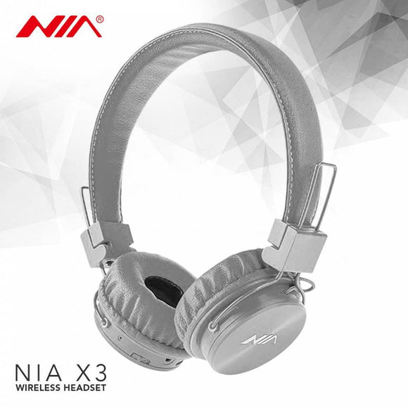 NIA X3 Bluetooth Wireless Headphones with Mic Support TF Card FM Radio - Saamaan.Pk