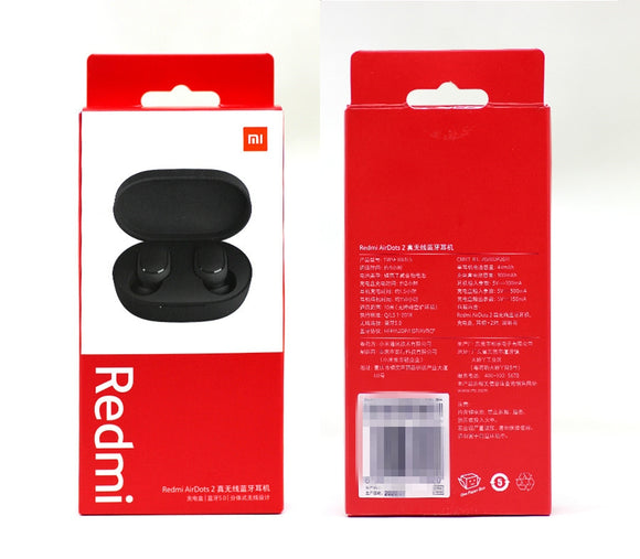 Xiaomi Redmi AirDots 2 Wireless Bluetooth 5.0 Earphone In-Ear stereo Earphones Ture Wireless Earbuds AI Control - Black