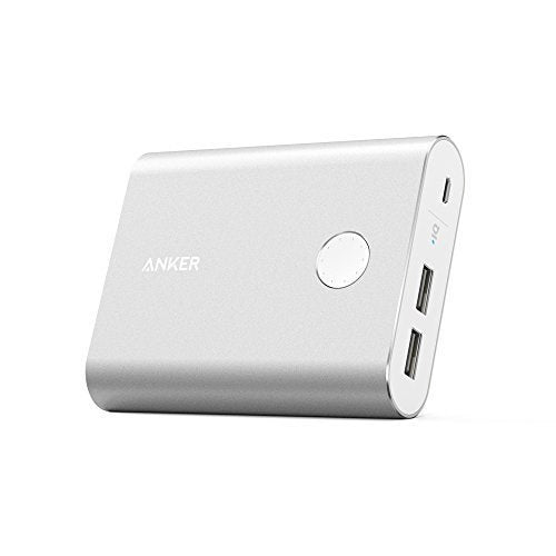 Anker PowerCore+ 13400 Premium Portable Charger (Recharges 2X Faster, Aluminum Shell, Leading 4.8A Output External Battery Power Bank) with High Quality Panasonic Battery Cells - Saamaan.Pk