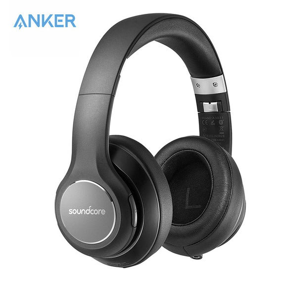 Soundcore Vortex Wireless Over-Ear Headphones by Anker, with 20-Hour Playtime, Bluetooth 4.1, Hi-Fi Stereo Sound, Soft Memory-Foam Ear Cups, Built-in Mic and Wired Mode - Saamaan.Pk