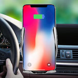 S6 SMART SENSOR CAR WIRELESS CHARGER WITH MOBILE HOLDER - Saamaan.Pk