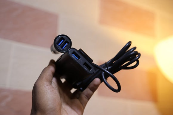 4 Port Car Charger 8A Qualcomm Quick Charge 3.0 - Saamaan.Pk